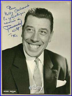 Fernandel (1903-1971) Belle photographie dédicacée en 1961 Autographe