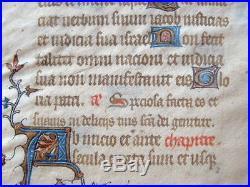 Feuillet d'un manuscrit enluminé du XVe