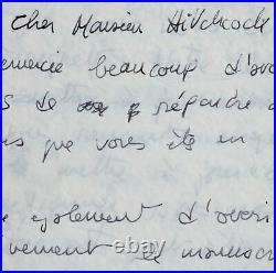 Formidable lettre de Truffaut à Alfred Hitchcock