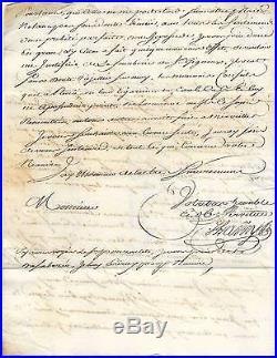 France 1751 Petite Poste Maritime Acheminement par L. DUFOREST A BORDEAUX