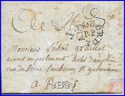 France 1787 Bordeaux pour Paris Marque de Port Payé Circulaire (Lenain 27)