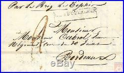 France 1838 Entrée Maritime PAYS D´OUTREMER Purifié Lazaret de Trompeloup