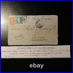 France Cérès N°49 Terne N°46b Lettre Cover Bordeaux Via Panama Lima Pérou