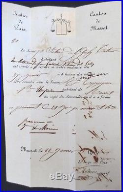 France N°1 Sur Lettre Cad Massat 1853