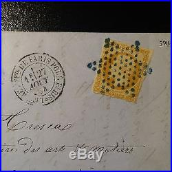 France Napoléon N°13 Lettre Locale Cover Étoile Bleu De Paris Superbe Frappe