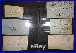 France, collection 63 enveloppes, lettres classiques, classeur (album)