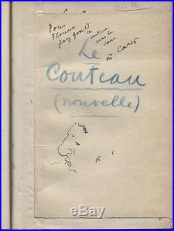 Francis Carco Manuscrit Autographe Complet + Tirage Tête Sur Japon + Envoi