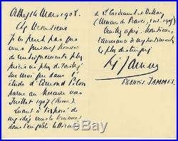 Francis JAMMES (1868-1938) écrivain lettre autographe Orthez 1908