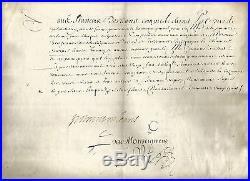 Francois D'orleans Longueville (1570-1631) Rare Papier Parchemine Signe G48