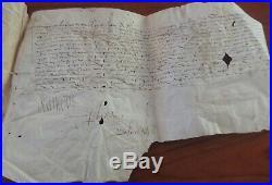 François Ier Ensemble de trois Parchemins 1545 Signé par le Roy et Bochetel