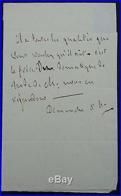 François-René de CHATEAUBRIAND autographe