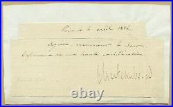 François-René de Chateaubriand (1768-1848) Rare pièce signée en 1824 + Photo