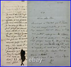 Franz LISZT Deux lettres autographes signées d'un proche de Liszt