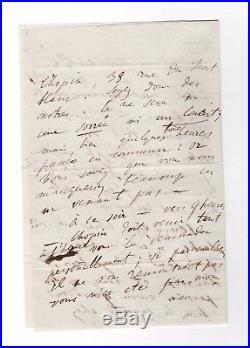 Franz Liszt / Lettre Autographe / Soirée Musicale Chez Chopin / George Sand