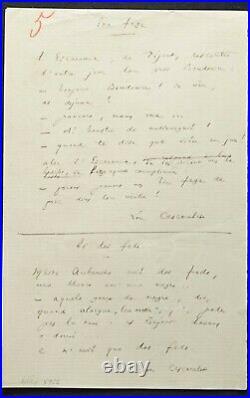 Frédéric MISTRAL autographe / Manuscrit en langue d'Oc