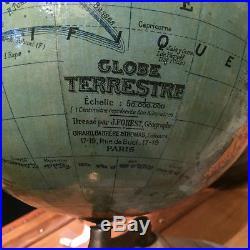 GLOBE TERRESTRE XX SIECLE Dressé par J. FOREST EDITEURS GIRARD a PARIS FRANCE