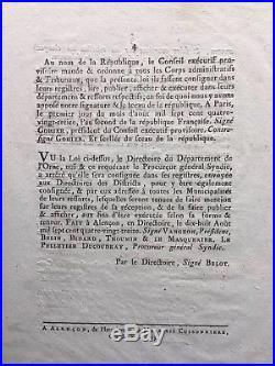 GUERRE DE VENDÉE / Mesures à prendre contre les Rebelles de la Vendée / Décret