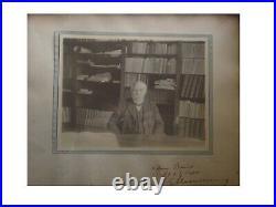 G. CLEMENCEAU Rare photo dédicacée au préfet de la Corse T. Barnier (1919-1920)
