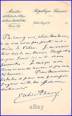 Gabriel Fauré / Lettre Autographe À Madame Dieterlen / Valse-caprice