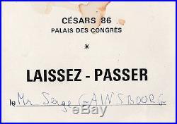 Gainsbourg Ensemble De Documents Personnels