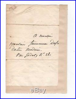 Général Bertrand / Lettre Autographe (1844) / Napoléon