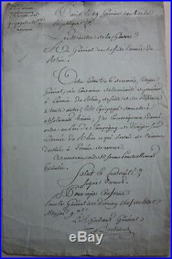 General Bertrand Lettre Autographe Signee Revolution 1800