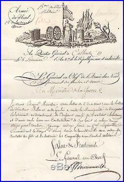 Général Beurnonville / Lettre Signée Coblence (1792) / Armée Du Nord