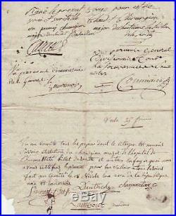 Général COMMAIRE autographe / Guerres de Vendée 1793