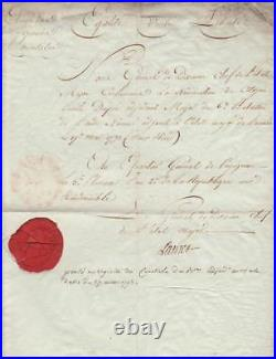 Général LAMER autographe 1794 / Disparu dans la BEREZINA