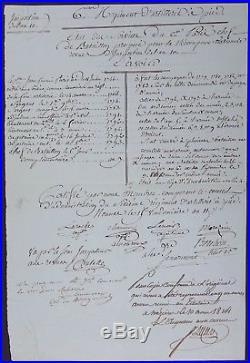 Général SENARMONT autographe / Tué au siège de CADIX