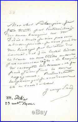 George SAND autographe #1