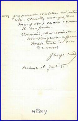 George SAND autographe #2