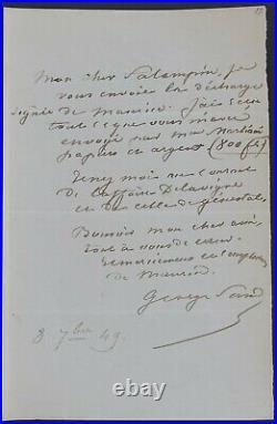 George SAND autographe #3