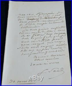 George SAND autographe #3 / SAIGNEES