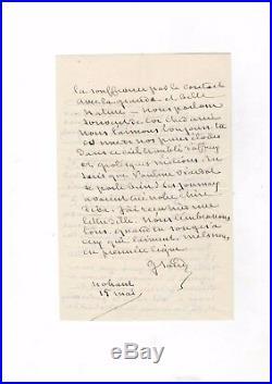 George Sand / Lettre Autographe (1871) / Pendant La Commune De Paris / Dessauer