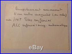 Georges BRASSENS Carte Dédicace Autographe