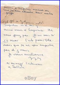 Georges Brassens / Lettre Autographe (1969-1971) / Püpchen / Crespières
