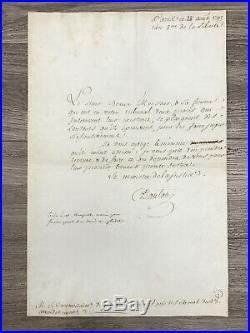 Georges DANTON / Lettre signée / 28 Aout 1792 / Tribunal