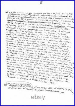 Gilles DELEUZE / Manuscrit Autographe / Foucault / Internationale situationniste