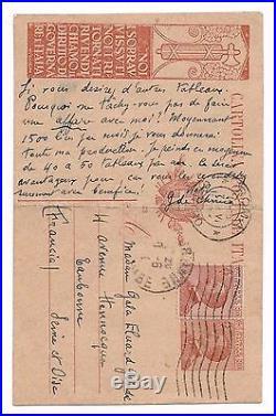 Giorgio De Chirico / Lettre Autographe À Gala Éluard (1924) / Surréalisme