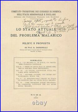 Giovanni Battista GRASSI autographe signée paludisme 1925 Ignorance déshonneur