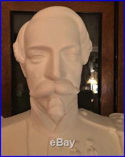 Grand Buste En Pltre Ciré De L'empereur Napoléon III Circa Second Empire