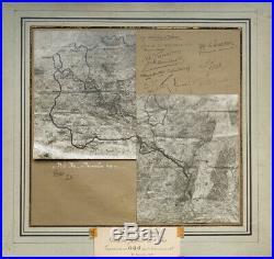 Guerre 14-18 Doc historique signé Pétain-Foch-Lyautey-Marchand-Gouraud-barres