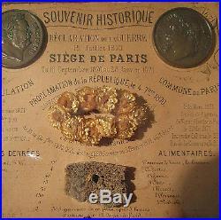 Guerre De 1870, Rare Diorama Souvenir Historique Du Siège De Paris 1870-1871
