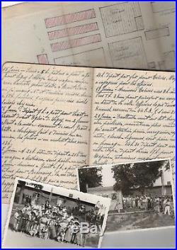 Guerre De 39-45 / Carnet Manuscrit D'un Capitaine Français Prisonnier (1940)