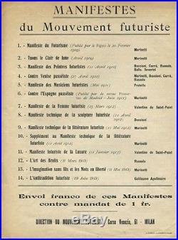 Guillaume Apollinaire Lantitradition Futuriste Manifeste-synthèse 1913