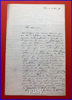 Gustave DORE Lettre autographe signée