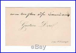Gustave Doré / Carte De Visite Autographe