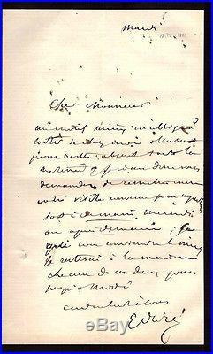 Gustave Doré / Lettre Autographe (1881) / Après Le Décès De Sa Mère