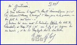 Gustave EIFFEL. B. A. S. À Charles Goutereau G 4016